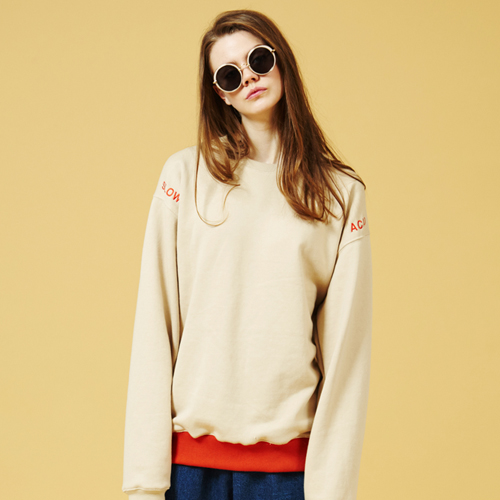 [Sold out]Basic X Sweatshirt (Beige)