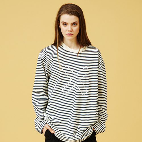 [Sold out] X Stripe Long Sleeve T-shirt