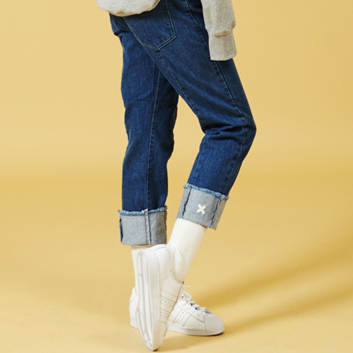 [Sold out] Cut Denim Pants (Blue)