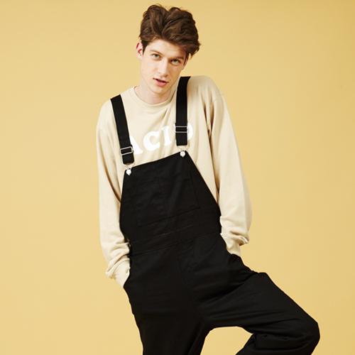 [Sold out] Over size Overall (Black)