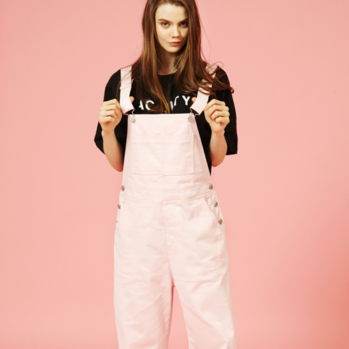 [Sold out] Over size Overall (Pink)