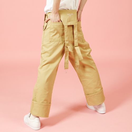 [Sold out] Over size Overall (beige)