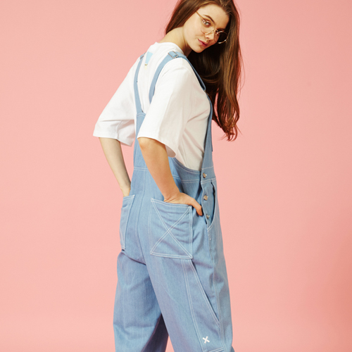 [Sold out] Over size Overall (Sky Blue)