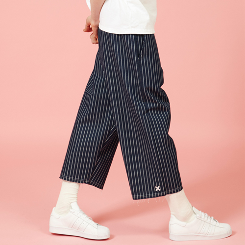 [Sold out] Wide  Stripe Denim Pants (Blue)