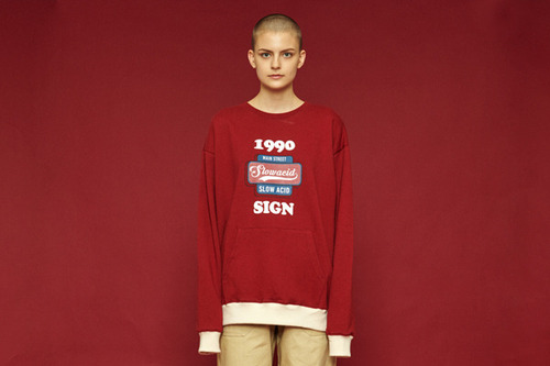 [Sold out] 1990 pocket sweatshirt (burgundy)