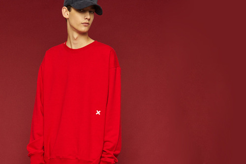 [Sold out] Signature sweatshirt (red)