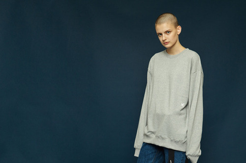 [35%off] Signature sweatshirt (gray)