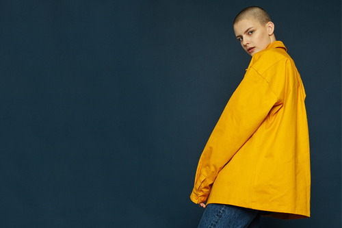 [Sold out] Cotton jacket (mustard)