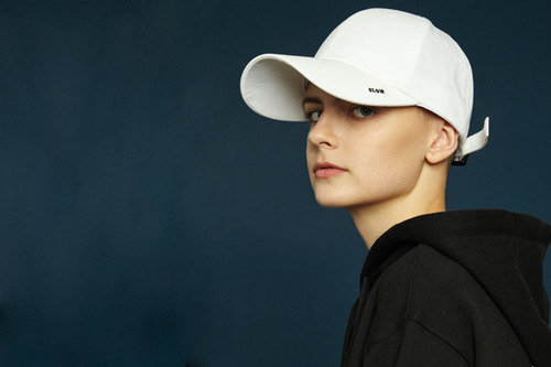 [unisex] X buckle cap (white)