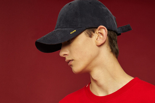 [Sold out] X buckle cap (corduroy_navy)