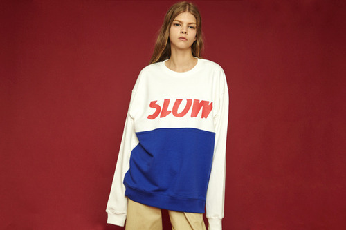 [Sold out] Colorblock sweatshirt (white)