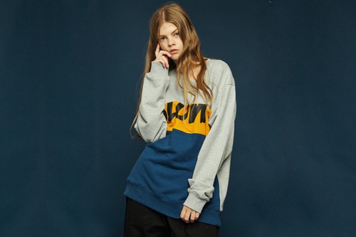 [Sold out] Colorblock sweatshirt (gray)