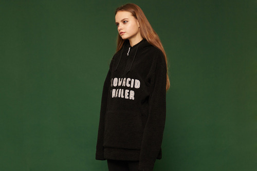 [Sold out] Fleece hoodie (black)