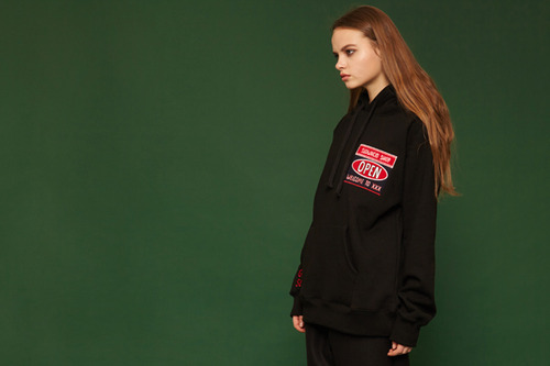 [Sold out] Open hoodie (black)