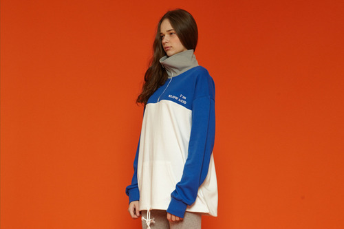 [Sold out] Colorblock anorak (blue)