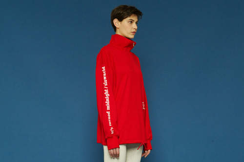 [Sold out] Solid color anorak (red)