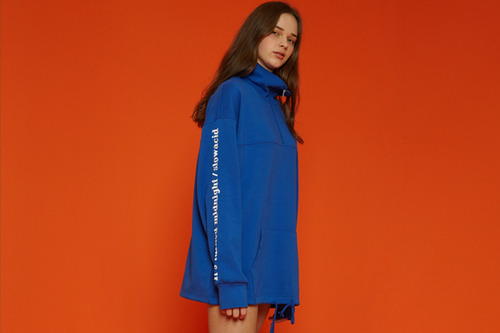 [Sold out] Solid color anorak (blue)