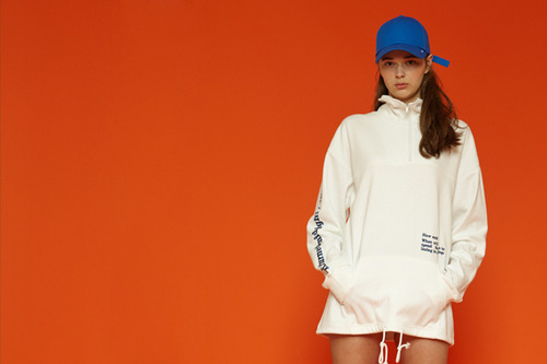 [Sold out] Solid color anorak (white)