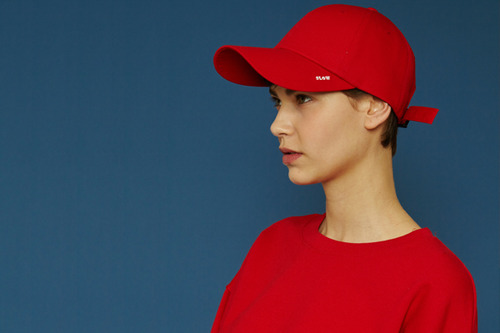 [unisex] X buckle cap (red)