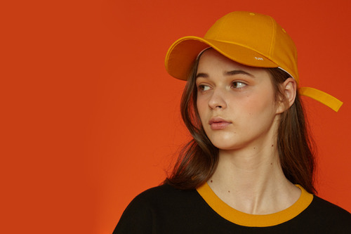 [unisex] X buckle cap (yellow)