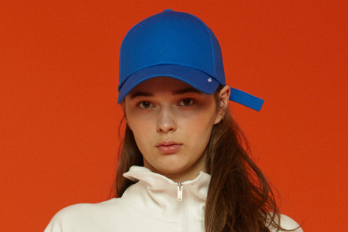[unisex] X buckle cap (blue)