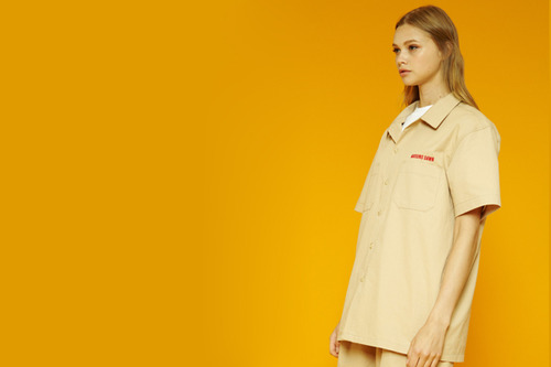 [Slod out] Arounddawn half-shirts (beige)