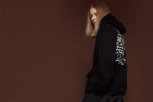 [Sold out] Wishlist hood zip up (black)
