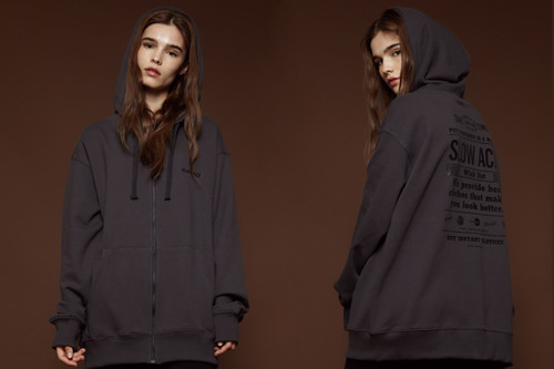 [Sold out] Wishlist hood zip up (charcoal)