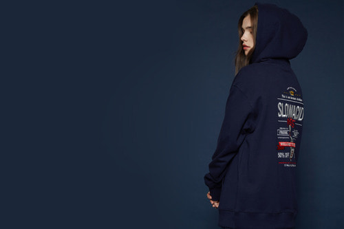 [Sold out] Bowlingpins sign hoodie (navy)