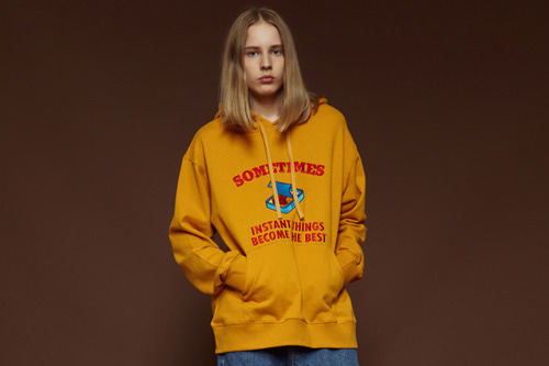 [Sold out] Canned hoodie (yellow)