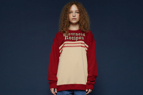 [Sold out] Recipes Sweatshirt (Burgundy)