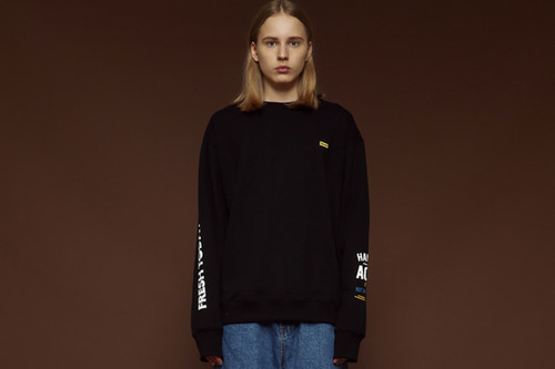 [Sold out] Fresh today sweatshirt (black)