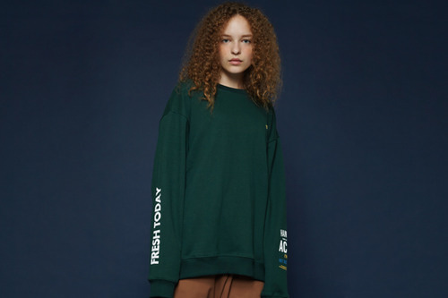 [Sold out] Fresh today sweatshirt (green)
