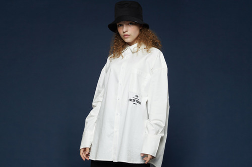 [Sold out] Long cuffs shirt (white)