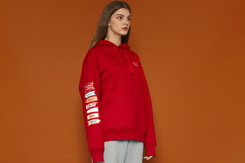 [Sold out] Signpost Hoodie (red)
