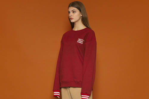 [Sold out] Wrist Line Sweatshirt (burgundy)