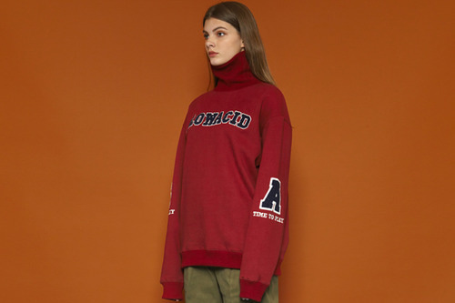 [Sold out] SA Turtleneck Sweatshirt (burgundy)