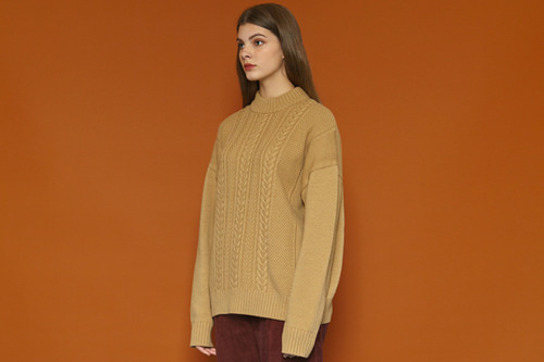[Soldout] Color Point Knit (beige)