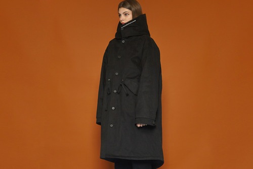 [Sold out] Hood Parka Coat (black)
