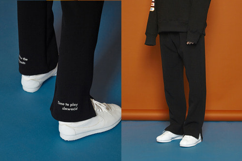 [Sold out] Winter Slit Banding Slacks (black)