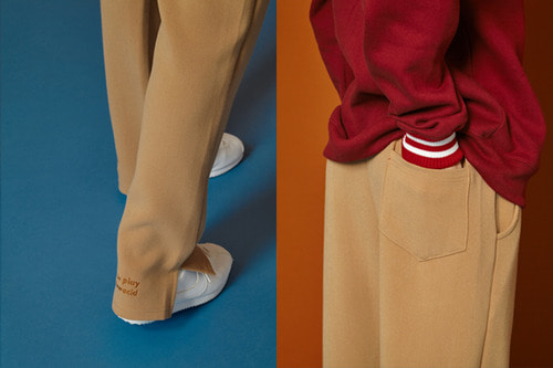 [Sold out] Winter Slit Banding Slacks (beige)