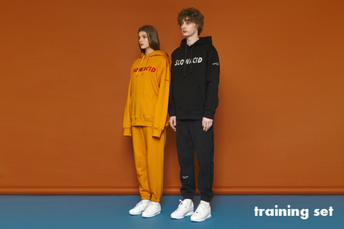 [30%][unisex] Lettering Training Hoodie&Pants Set