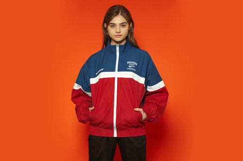 [unisex] Goldenmoney Windbreaker (red/blue)