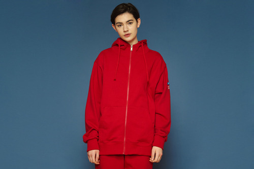 [unisex] Arrow Hood Zipup (red)