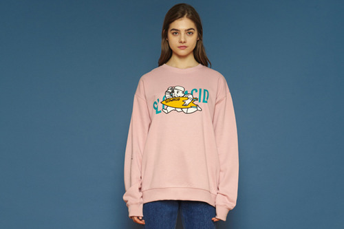 [unisex] Moneyman Sweatshirt (pink)