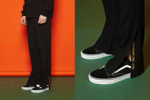 [Sold out] Vent Banding Slacks (black)