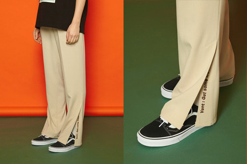 [Sold out] Vent Banding Slacks (beige)