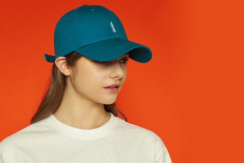 [unisex] Vertical logo cap (bluegreen)