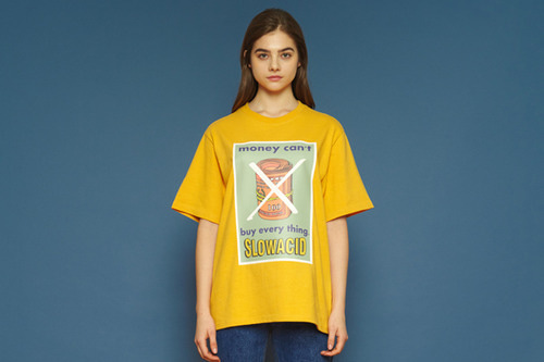[unisex] Big Print Short T (yellow)