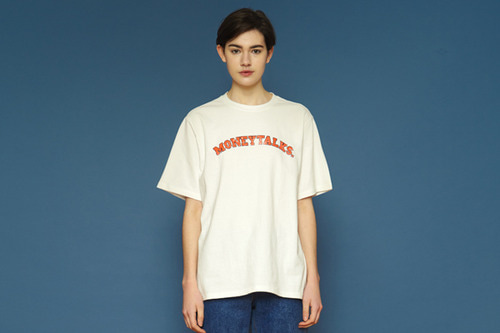 [unisex] Arc Moneytalks Short T (white)